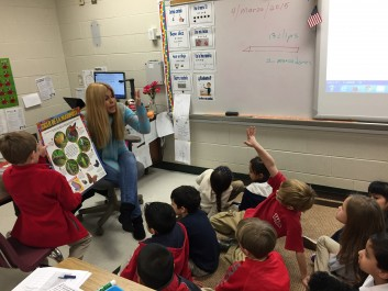 Estudiantes y mariposas: First-grade teacher Vivianne Delgado and her students are learning about butterflies, but they're also learning to describe and associate in Spanish.