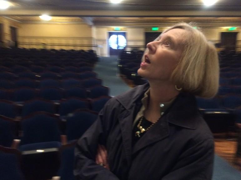 Fran Godchaux admires the Lyric.