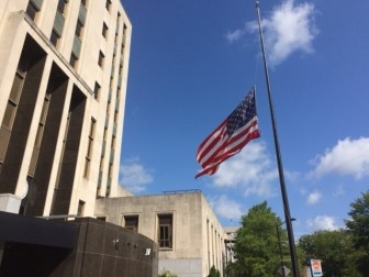 The flag at City Hall was already flying at half-mast honoring the victims of the Orlando nightclub shooting that happened almost a month ago.