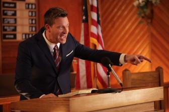 Levi Kreis as Pastor Jimmy Ray Brewton in A Very Sordid Wedding.