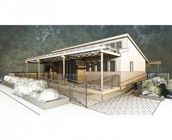 A digital rendering of SURVIV(AL) House.
