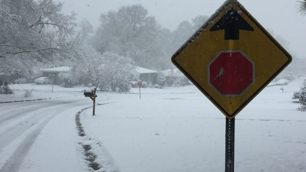 Snowfall Brings Hazardous Conditions