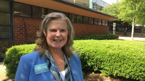 Sue Bell Cobb outside WBHM in Birmingham