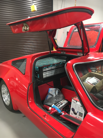red Bradley GT retrofitted with special batteries