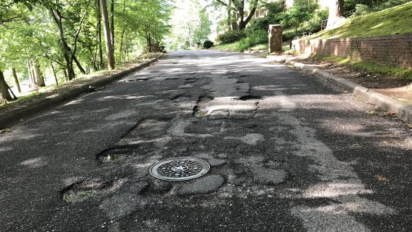Persistent Potholes Draw Phallic Painting