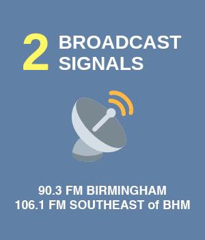 3 broadcast signals