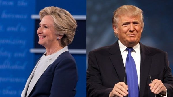 Democratic presidential nominee Hillary Clinton (left) and Republican presidential nominee Donald Trump.