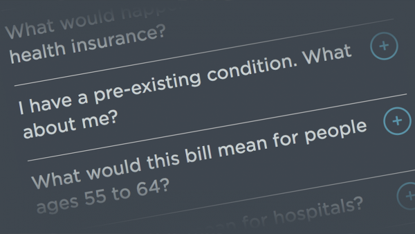 FAQ: How Would The Republican Health Care Bills Affect You?