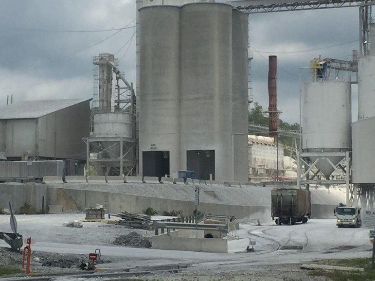 Carmeuse Lime and Stone's Longview facility as seen from Highway 31 in Saginaw. The plant borders Buck Creek.