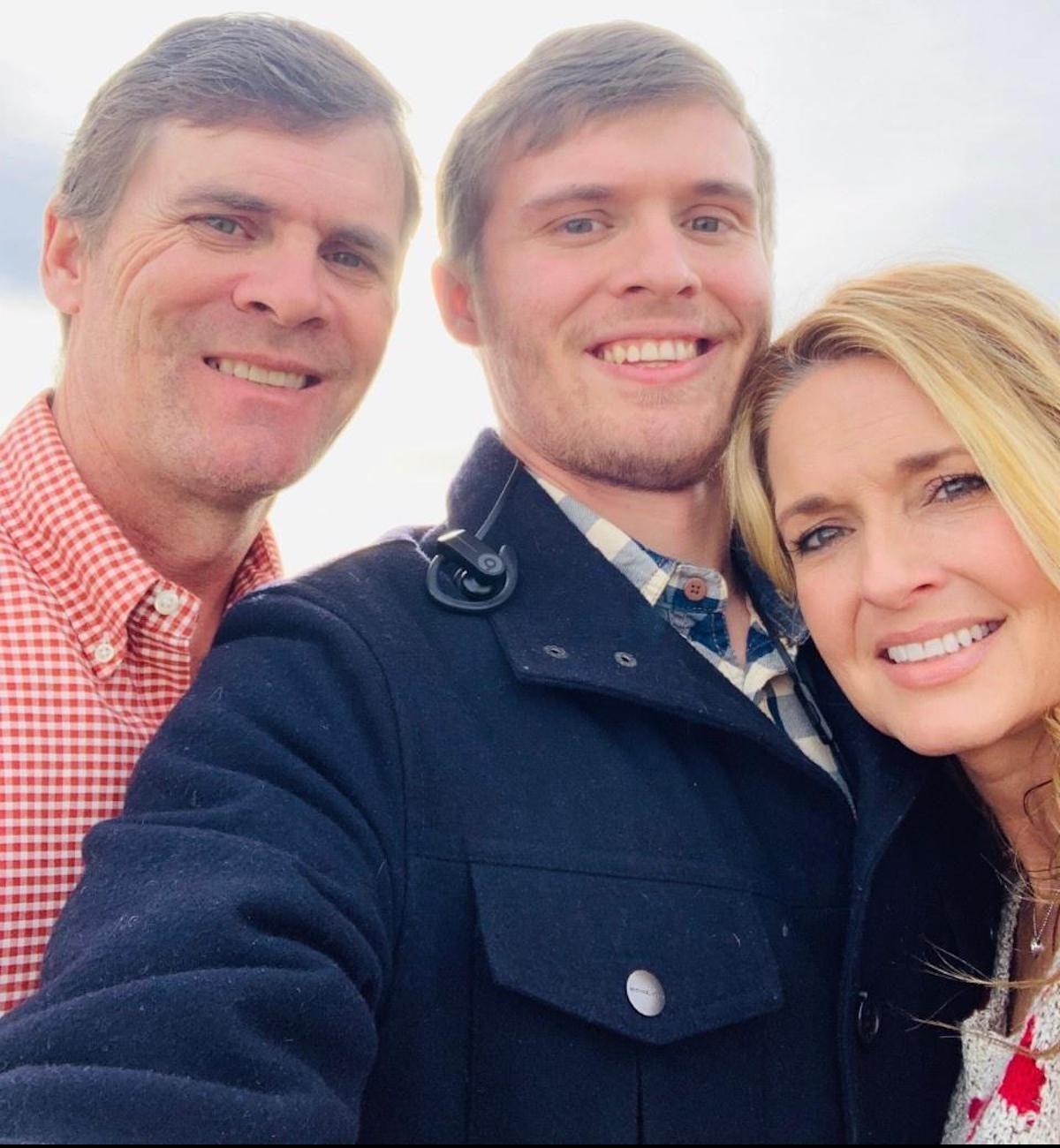 (L-R) Brad Calhoun, Austin Calhoun and Angie Calhoun of Puckett, Mississippi.