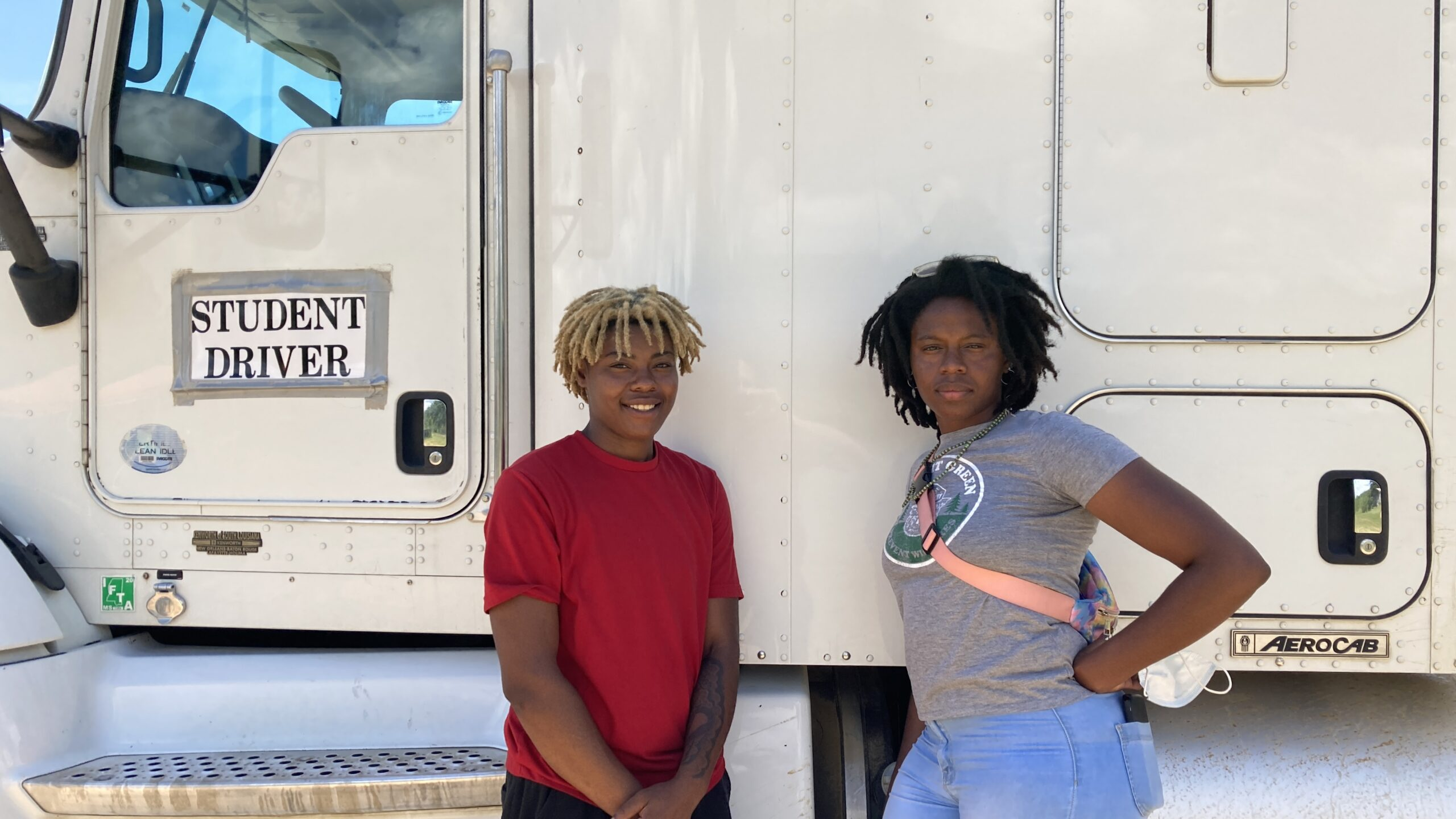 Diamond Herring and Amalya Livingston are enrolled in truck driving classes at DSC Training Academy. June 29, 2021