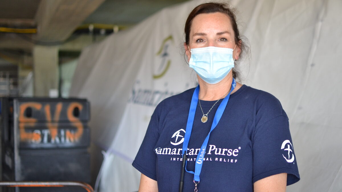 Nurse Kelly Sites is the team leader for the Samaritan Purse team deployed in August to assist Mississippi hospitals overwhelmed by COVID-19 patients.